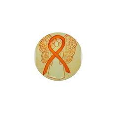Orange Ribbon Angel Mini Button (100 pack)