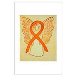 Orange Ribbon Angel Posters