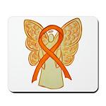 Orange Ribbon Angel Mousepad
