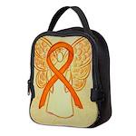 Orange Ribbon Angel Neoprene Lunch Bag