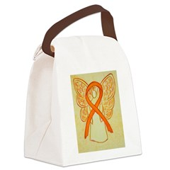 Orange Ribbon Angel Canvas Lunch Bag