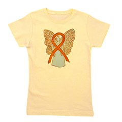 Orange Ribbon Angel Girl's Tee