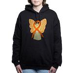 Orange Ribbon Angel Women's Hooded Sweatshirt