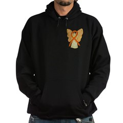 Orange Ribbon Angel Hoodie