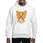 Orange Ribbon Angel Hoodie