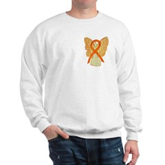 Orange Ribbon Angel Sweatshirt