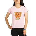Orange Ribbon Angel Performance Dry T-Shirt