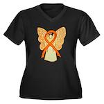 Orange Ribbon Angel Plus Size T-Shirt