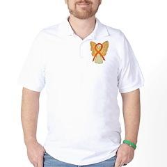 Orange Ribbon Angel Golf Shirt