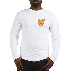 Orange Ribbon Angel Long Sleeve T-Shirt