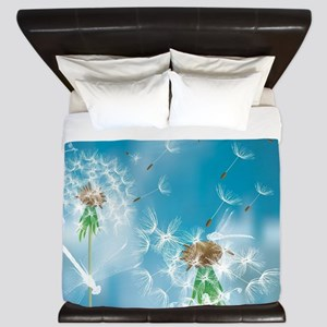 Dandelions and Dragonflies King Duvet