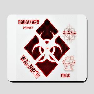 Biohazard red Mousepad