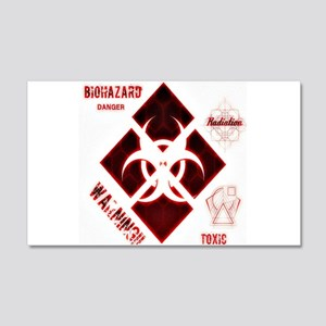 Biohazard red Wall Decal