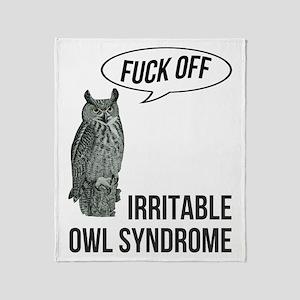 Irritable Owl Syndrome Throw Blanket