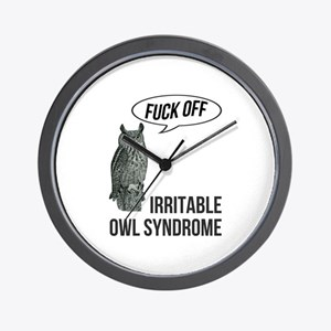 Irritable Owl Syndrome Wall Clock