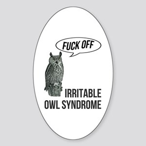Irritable Owl Syndrome Sticker (Oval)
