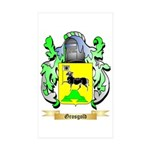 Grosgold Sticker (Rectangle 50 pk)