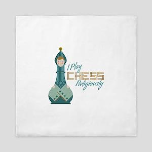 I Play Chess Queen Duvet
