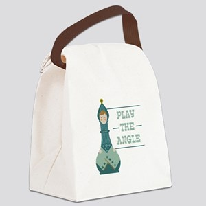 Play The Angle Canvas Lunch Bag