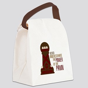 Power Of Pawn Canvas Lunch Bag