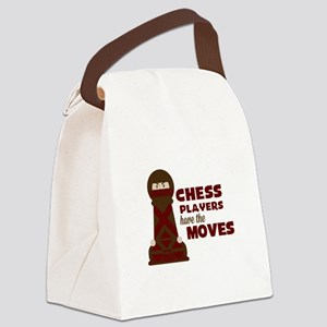 Chess Players Canvas Lunch Bag