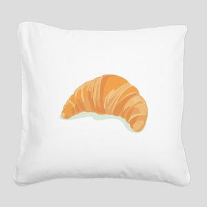 Croissant Square Canvas Pillow