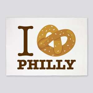 I Love Philly 5'x7'Area Rug