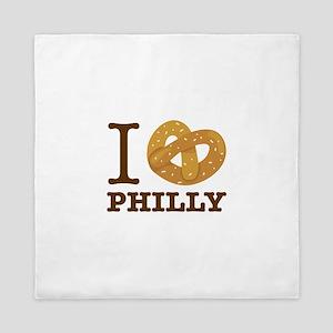 I Love Philly Queen Duvet