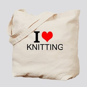 I Love Knitting Tote Bag