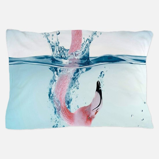 Funny Pink Flamingo Pillow Case