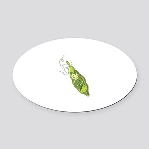 Peas In Pod Oval Car Magnet