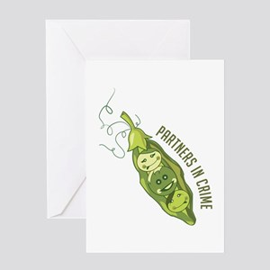 Partners In Crime Greeting Cards