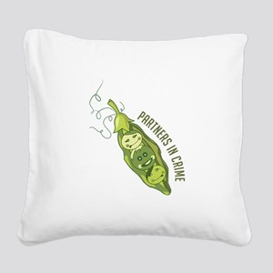 Partners In Crime Square Canvas Pillow