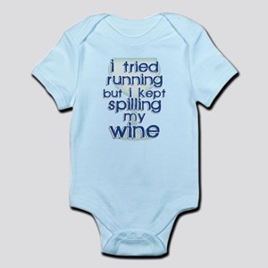 Lazy Wine Drinking Humor Body Suit