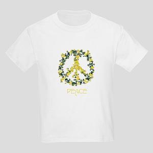 Flower Peace Solarium Yellow Kids Light T-Shirt