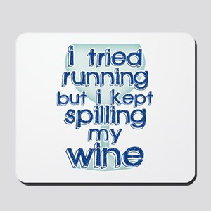 Lazy Wine Drinking Humor Mousepad