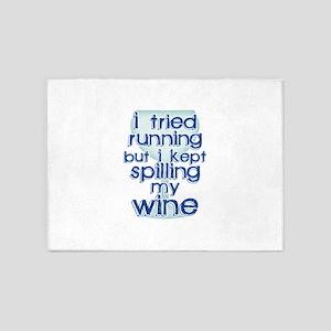 Lazy Wine Drinking Humor 5'x7'Area Rug