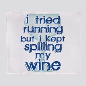 Lazy Wine Drinking Humor Throw Blanket