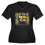 Endangered w Women's Plus Size V-Neck Dark T-Shirt