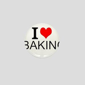 I Love Baking Mini Button