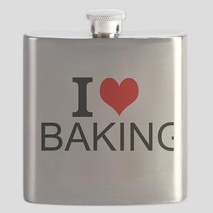 I Love Baking Flask