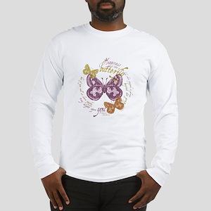 butterflies-vinatge2 copy Long Sleeve T-Shirt