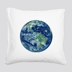 Earth Square Canvas Pillow
