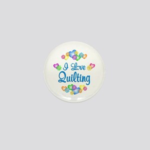I Love Quilting Mini Button (10 pack)
