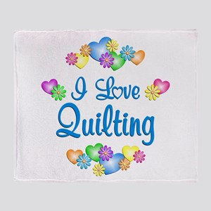 I Love Quilting Throw Blanket