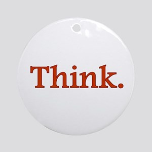 Think Ornament (Round)
