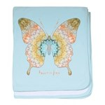 Haven Pastel Butterfly baby blanket