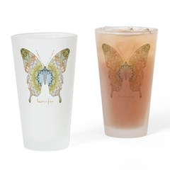 Haven Pastel Butterfly Drinking Glass