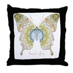 Haven Pastel Butterfly Throw Pillow