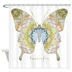 Haven Pastel Butterfly Shower Curtain